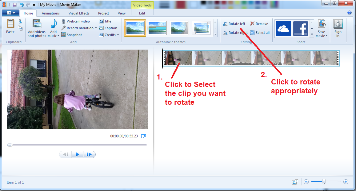 Til how to rotate video recorded on your smart phone broox movie maker step2 ccuart Images